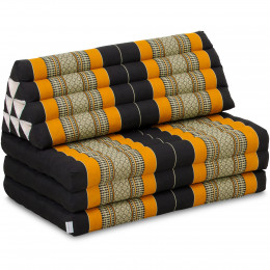 Thai Cushion XXL-Width, black / orange