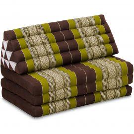 Thai Cushion XXL-Width, brown / green