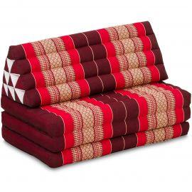 Thai Cushion XXL-Width, ruby-red