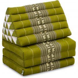 Thai Cushion XXL-Height, green elephants