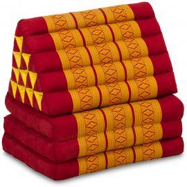 Thai Cushion XXL-Height, red / yellow