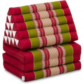 Thai Cushion XXL-Height, red / green