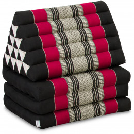 Thai Cushion XXL-Height, black / red