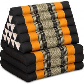 Thai Cushion XXL-Height, black / orange