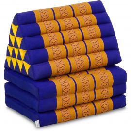 Thai Cushion XXL-Height, blue / yellow