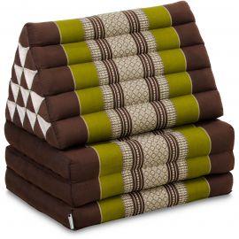 Thai Cushion XXL-Height, brown / green