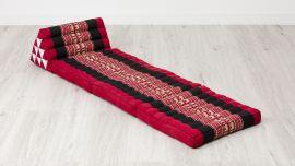 Thai Cushion 3 Fold, red elephants