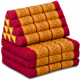 Thai Cushion 3 Fold, red / yellow