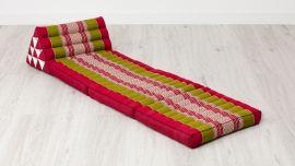 Thai Cushion 3 Fold, red / green