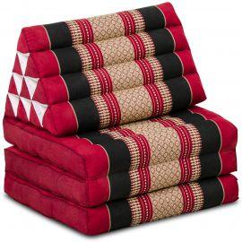 Thai Cushion 3 Fold, red / black