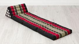 Thai Cushion 3 Fold, black / red
