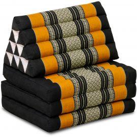 Thai Cushion 3 Fold, black / orange