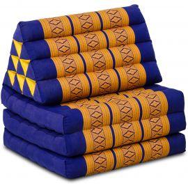 Thai Cushion 3 Fold, blue / yellow