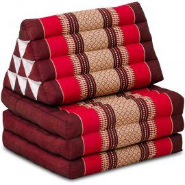 Thai Cushion 3 Fold, ruby-red
