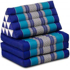 Thai Cushion 3 Fold, blue