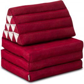 Thai Cushion 3 Fold, red monochrome