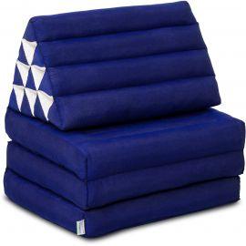 Thai Cushion 3 Fold, blue monochrome