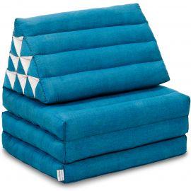 Thai Cushion 3 Fold, light blue monochrome