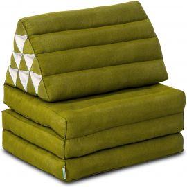 Thai Cushion 3 Fold, green monochrome