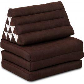 Thai Cushion 3 Fold, brown monochrome