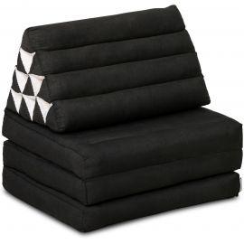 Thai Cushion 3 Fold, black monochrome
