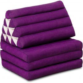 Thai Cushion 3 Fold, purple monochrome