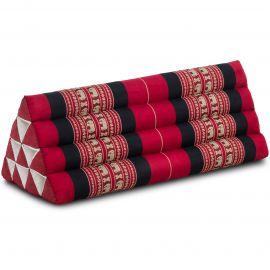Triangle Cushion XXL-Width, red elephants
