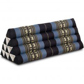 Triangle Cushion XXL-Width, blue elephants