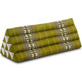 Triangle Cushion XXL-Width, green elephants