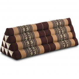 Triangle Cushion XXL-Width, brown elephants