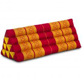 Triangle Cushion XXL-Width, red / yellow
