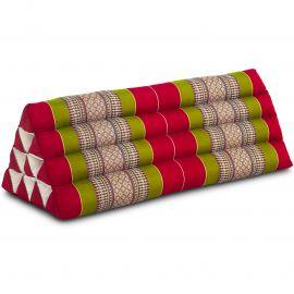 Triangle Cushion XXL-Width, red / green