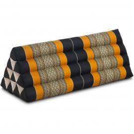 Triangle Cushion XXL-Width, black / orange