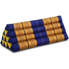 Triangle Cushion XXL-Width, blue / yellow