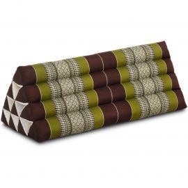 Triangle Cushion XXL-Width, brown / green