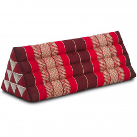 Triangle Cushion XXL-Width, ruby-red