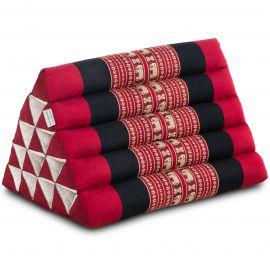 Triangle Cushion XXL-Height, red elephants