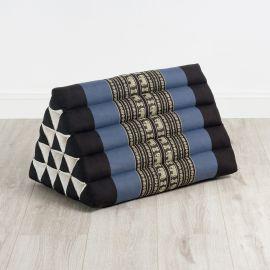 Triangle Cushion XXL-Height, blue elephants