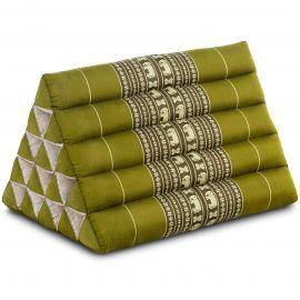 Triangle Cushion XXL-Height, green elephants