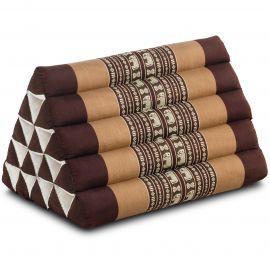 Triangle Cushion XXL-Height, brown elephants