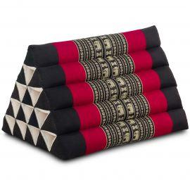 Triangle Cushion XXL-Height, black elephants