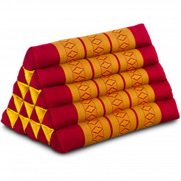 Triangle Cushion XXL-Height, red / yellow