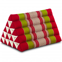 Triangle Cushion XXL-Height, red / green