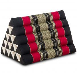 Triangle Cushion XXL-Height, black / red