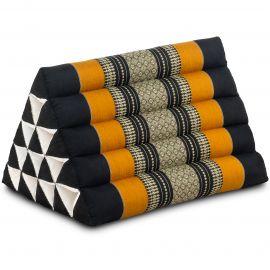 Triangle Cushion XXL-Height, black / orange