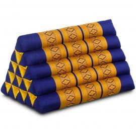 Triangle Cushion XXL-Height, blue / yellow