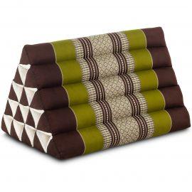 Triangle Cushion XXL-Height, brown / green