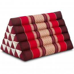 Triangle Cushion XXL-Height, ruby-red
