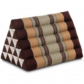 Triangle Cushion XXL-Height, brown