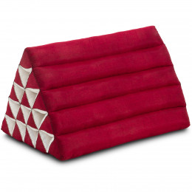 Triangle Cushion XXL-Height, monochrome, red